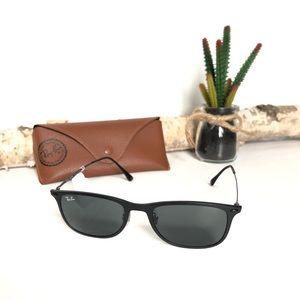 Ray-Ban Light Ray 52mm Rectangle Sunglasses, Black